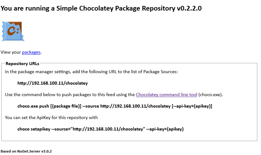 Simple Chocolatey Server